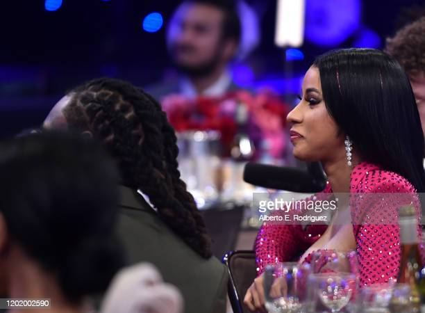 Cardi B attends the PreGRAMMY Gala and GRAMMY Salute to Industry Icons Honoring Sean Diddy Combs on January 25 2020 in Beverly Hills California