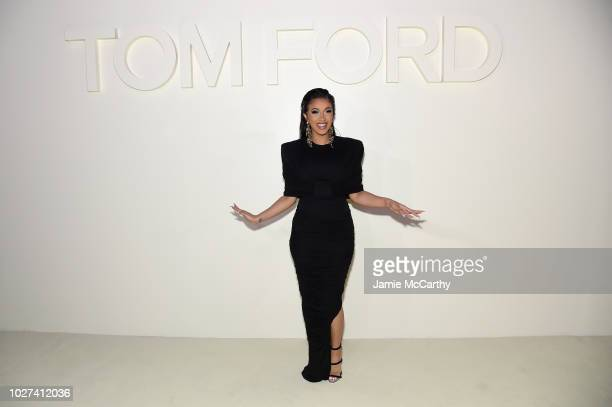 Cardi B attends the Tom Ford fashion show during New York Fashion Week at Park Avenue Armory on September 5 2018 in New York City