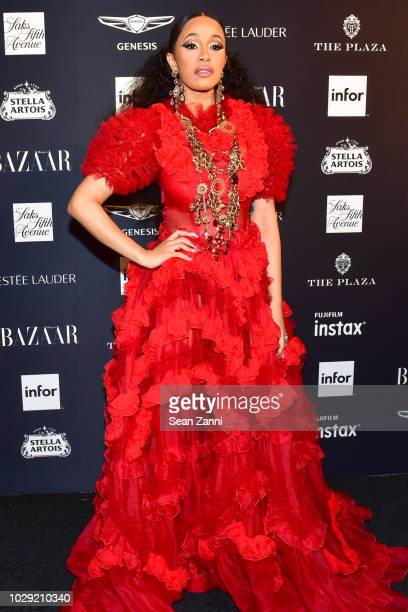 Cardi B attends The Worldwide Editors Of Harper's Bazaar Celebrate ICONS by Carine Roitfeld presented by Infor, Stella Artois, FUJIFILM, Estee...
