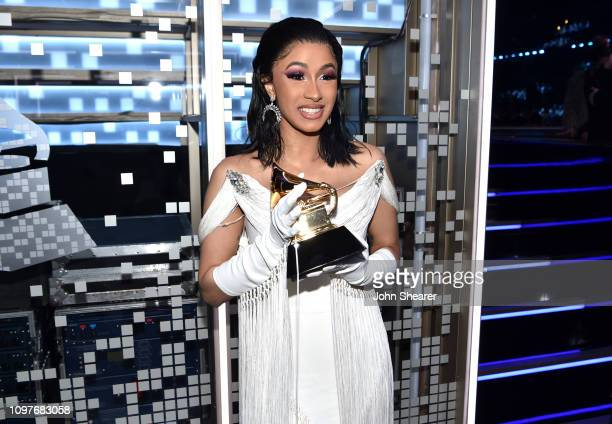 Cardi B backstage during the 61st Annual GRAMMY Awards at Staples Center on February 10 2019 in Los Angeles California