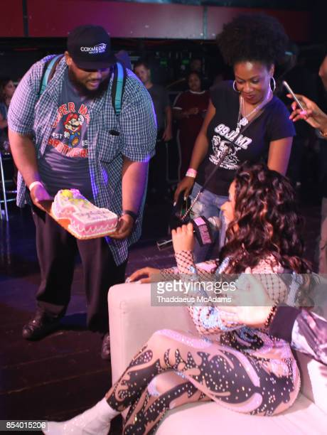 Cardi B gets a cake to celebrate at Revolution Live on September 25 2017 in Fort Lauderdale Florida