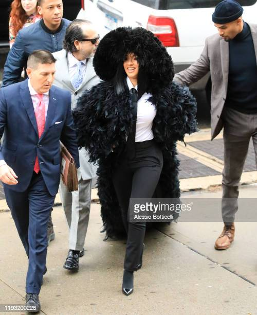 Cardi B is seen arriving at Queens Criminal Court on December 10 2019 in New York City