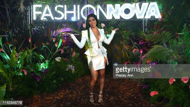 Cardi B is seen as Fashion Nova Presents Party With Cardi at Hollywood Palladium on May 8 2019 in Los Angeles California