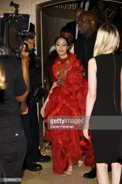 Cardi B is seen leaving the Harper's BAZAAR ICONS at The Plaza Hotel on September 7 2018 in New York City