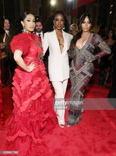 Cardi B Kelly Rowland and La La Anthony attends as Harper's BAZAAR Celebrates ICONS By Carine Roitfeld at the Plaza Hotel on September 7 2018 in New...