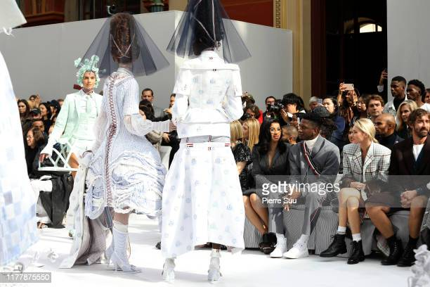 Cardi B ,Kollin Carter and Elsa Hosk attend the Thom Browne Womenswear Spring/Summer 2020 show as part of Paris Fashion Week on September 29, 2019 in...