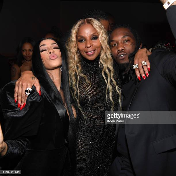 Cardi B Mary J Blige and Offset attend Sean Combs 50th Birthday Bash presented by Ciroc Vodka on December 14 2019 in Los Angeles California