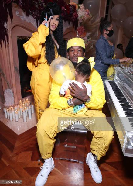 "Cardi B, Offset and Kulture Kiari Cephus attend the Teyana Taylor ""The Album"" Listening Party on June 17, 2020 in Beverly Hills, California."