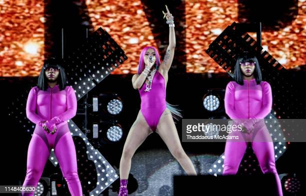 Cardi B performs at Rolling Loud Miami 2019 at Miami Gardens on May 11 2019 in Fort Lauderdale Florida
