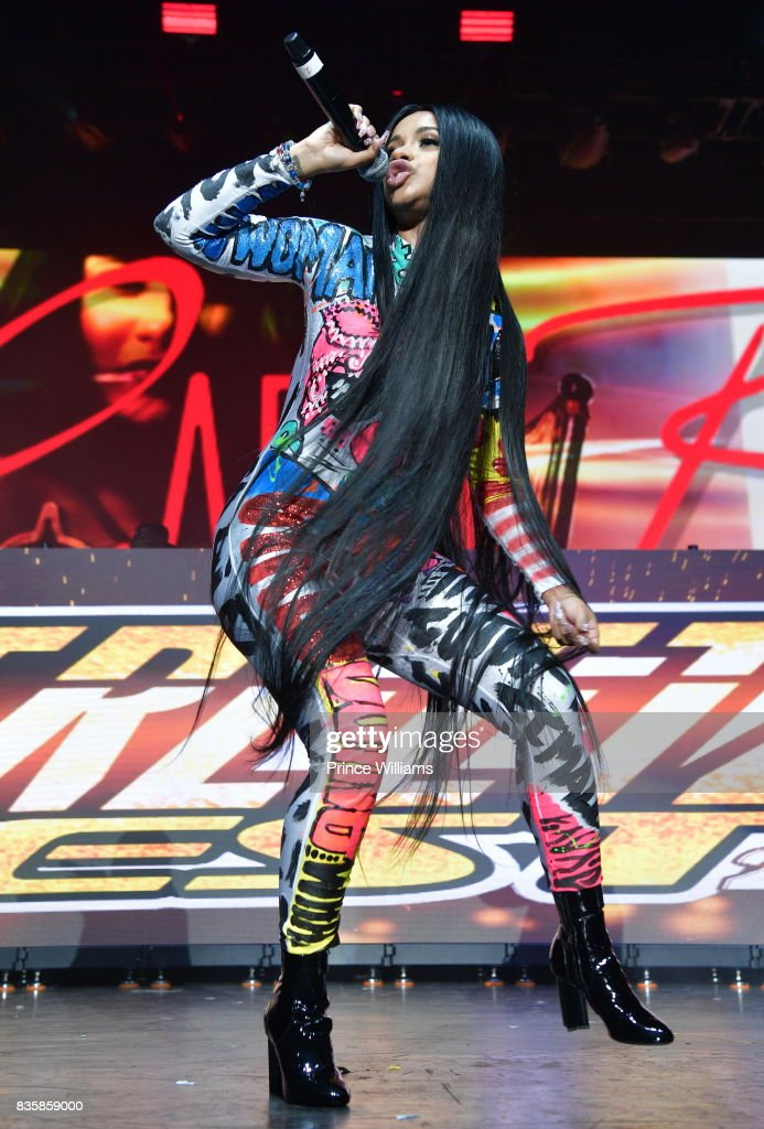 Cardi B Performs at Streetz Fest 2K17 at Lakewood Amphitheatre on August 19, 2017 in Atlanta, Georgia.