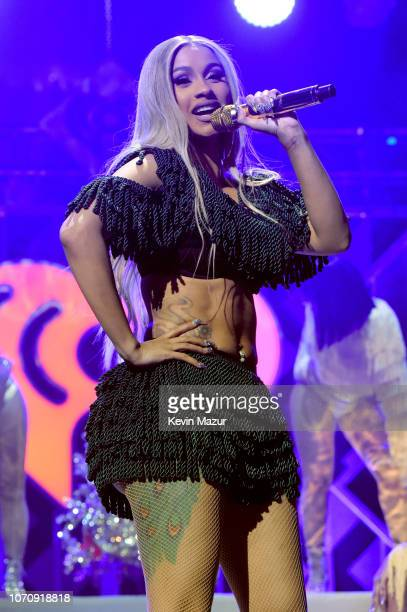 Cardi B performs at Z100's Jingle Ball 2018 at Madison Square Garden on December 7 2018 in New York City