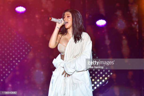 Cardi B performs during 2019 Bonnaroo Music & Arts Festival on June 16, 2019 in Manchester, Tennessee.