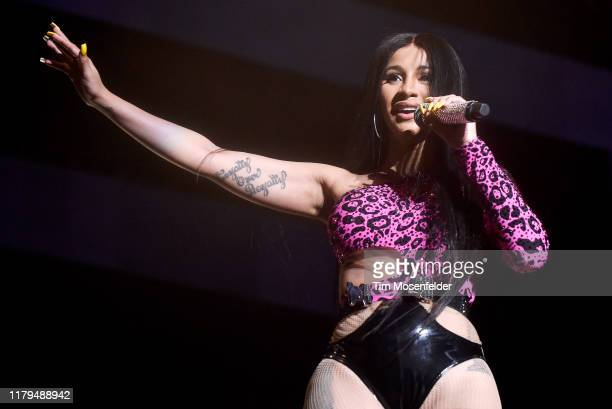 Cardi B performs during the ACL Music Festival 2019 at Zilker Park on October 06 2019 in Austin Texas