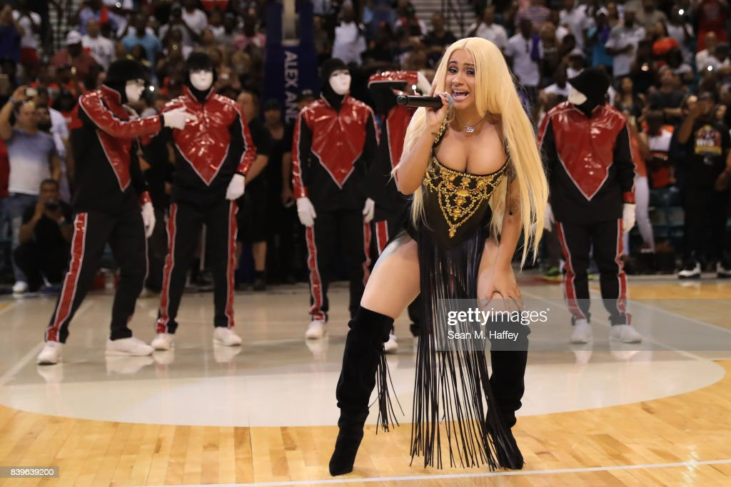 Cardi B performs during the BIG3 three on three basketball league championship game on August 26, 2017 in Las Vegas, Nevada.