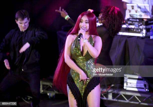Cardi B performs during the Make Trap Great Again showcase at Stubb's BarBQue during the 2017 SXSW Conference And Festivals on March 18 2017 in...