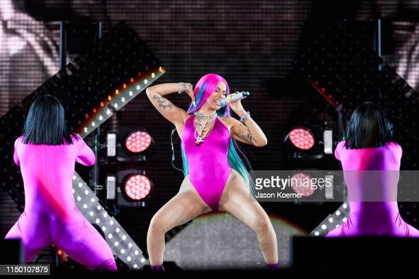 Cardi B performs on stage during day one of Rolling Loud at Hard Rock Stadium on May 10 2019 in Miami Gardens Florida