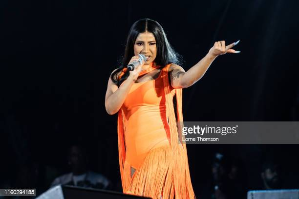 Cardi B performs on stage during Wireless Festival 2019 on July 05 2019 in London England