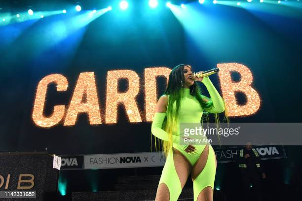 Cardi B performs onstage as Fashion Nova Presents Party With Cardi at Hollywood Palladium on May 8 2019 in Los Angeles California