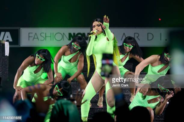 Cardi B performs onstage as Fashion Nova Presents: Party With Cardi at Hollywood Palladium on May 9, 2019 in Los Angeles, California.