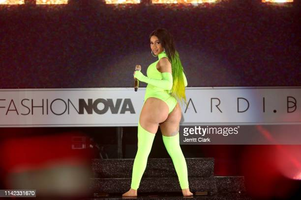 Cardi B performs onstage as Fashion Nova Presents Party With Cardi at Hollywood Palladium on May 9 2019 in Los Angeles California