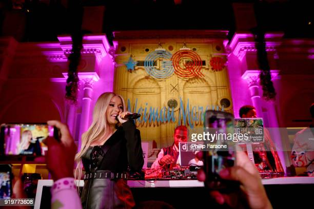 Cardi B performs onstage at the 2018 GQ x Neiman Marcus All Star Party at Nomad Los Angeles on February 17 2018 in Los Angeles California