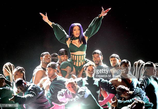 Cardi B performs onstage at the 2019 BET Awards at Microsoft Theater on June 23, 2019 in Los Angeles, California.