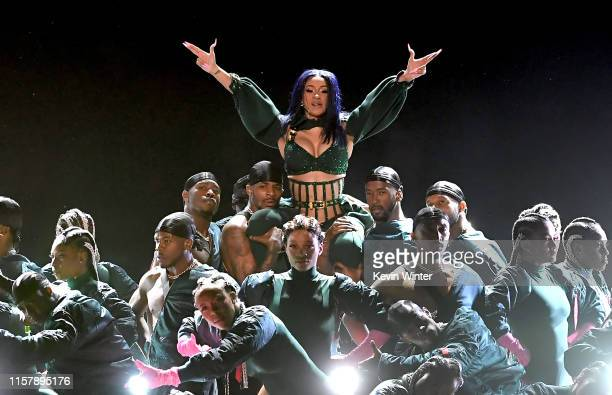 Cardi B performs onstage at the 2019 BET Awards on June 23, 2019 in Los Angeles, California.