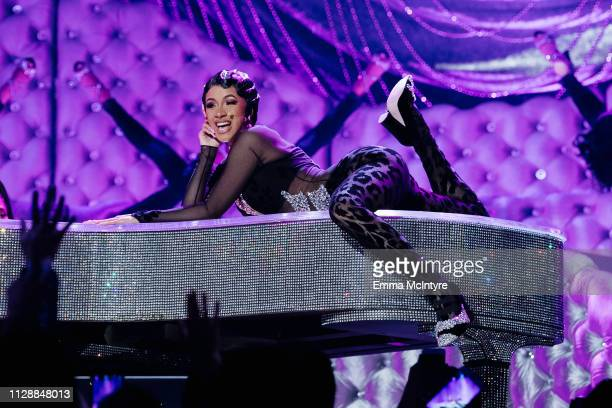 Cardi B performs onstage at the 61st annual GRAMMY Awards at Staples Center on February 10 2019 in Los Angeles California