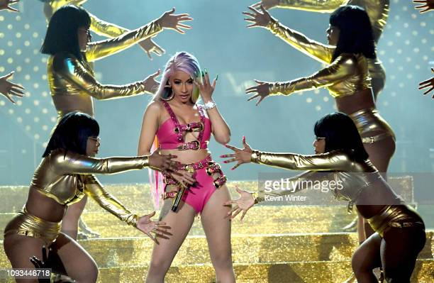 Cardi B performs onstage during Day 3 of Bud Light Super Bowl Music Fest at State Farm Arena on February 2 2019 in Atlanta Georgia