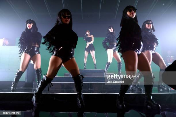 Cardi B performs onstage during Metro By TMobile Presents Live In LA Powered By Pandora Featuring Cardi B And Jhené Aiko at Academy Nightclub on...
