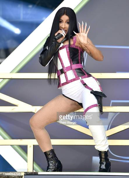 Cardi B performs onstage during Universal Pictures Presents The Road To F9 Concert and Trailer Drop on January 31, 2020 in Miami, Florida.