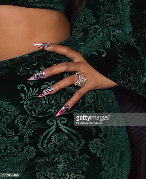 Cardi B ring detail attends E11EVEN on November 22 2017 in Miami Florida