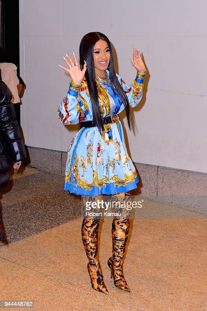 Cardi B seen in Manhattan on April 10 2018 in New York City