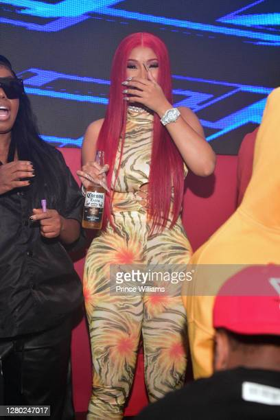 Cardi B sighted at Red Martini Nightclub on October 13, 2020 in Atlanta, Georgia.