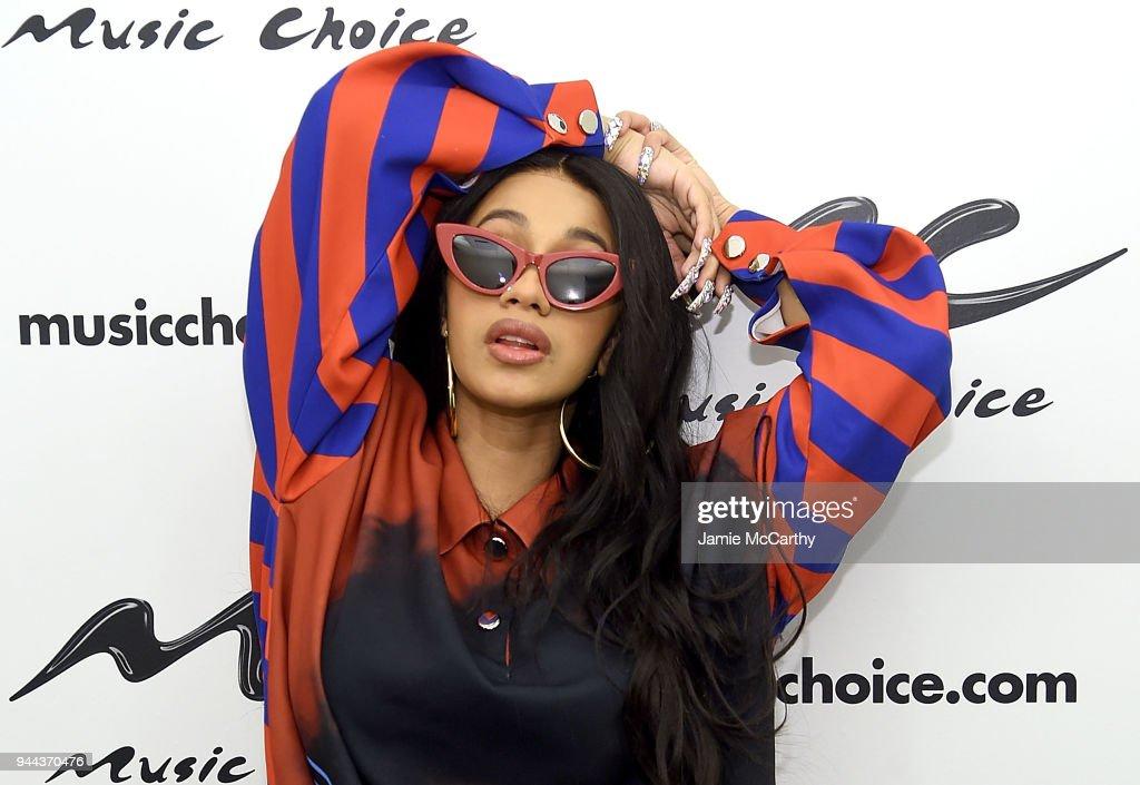Cardi B Visits Music Choice : News Photo