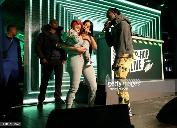 Cardi B with baby Kulture and Offset perform at Offset In Concert at Sony Hall on October 16 2019 in New York City
