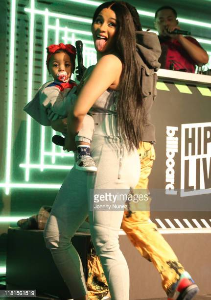 Cardi B with baby Kulture perform at Offset In Concert at Sony Hall on October 16, 2019 in New York City.