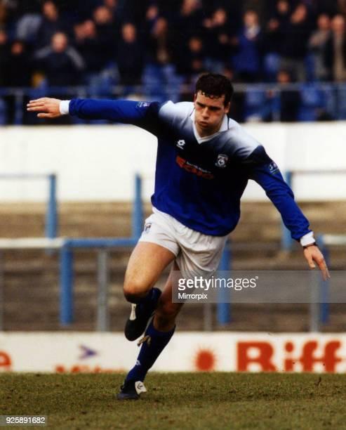 Cardiff 2-0 Hull City, League Division Three football match, Saturday 25th January 1997. Simon Haworth, Cardiff City Football Player, 1995 - 1997,...