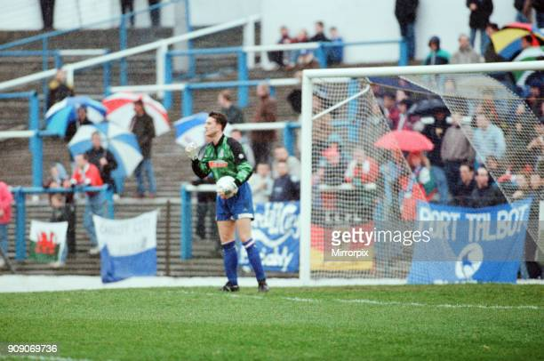 Cardiff 31 Lincoln League Division 3 match at Cardiff City Stadium Monday 12th April 1993 Gavin Ward Cardiff Goalkeeper in action