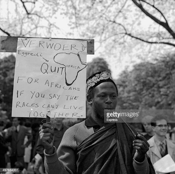 Cardiff antiapartheid demonstration during a visit by the South African Bowls Team 1964