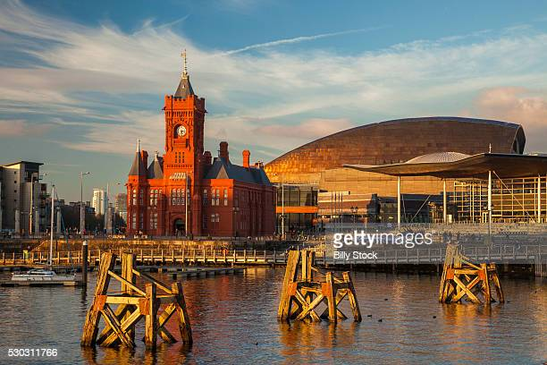 cardiff bay, cardiff, wales, united kingdom, europe - cardiff galles foto e immagini stock