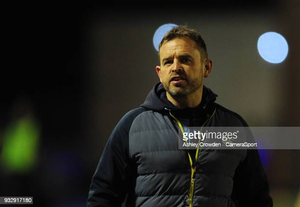CARDIFF WALES MARCH Cardiff Blues' Head Coach Danny Wilson during the Guinness PRO12 Round 17 match between Cardiff Blues and Benetton Rugby at...