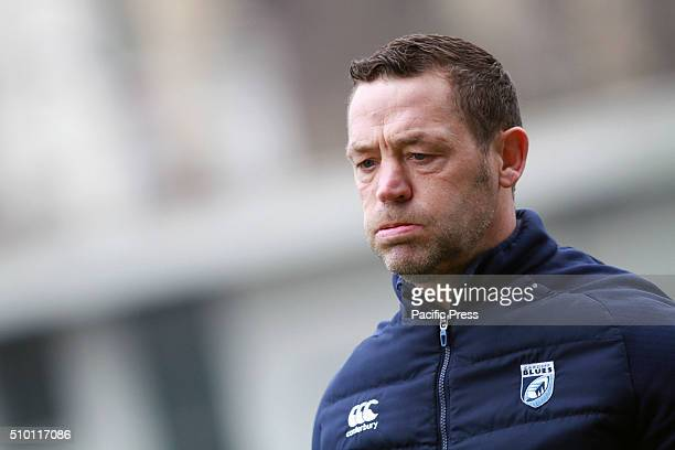 Cardiff Blues's Head Coach Danny Wilson looks during Rugby Guinness Pro12 match between Benetton Treviso and Cardiff Blues