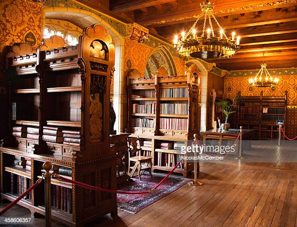 cardiff castle library - cardiff wales stock pictures, royalty-free photos & images