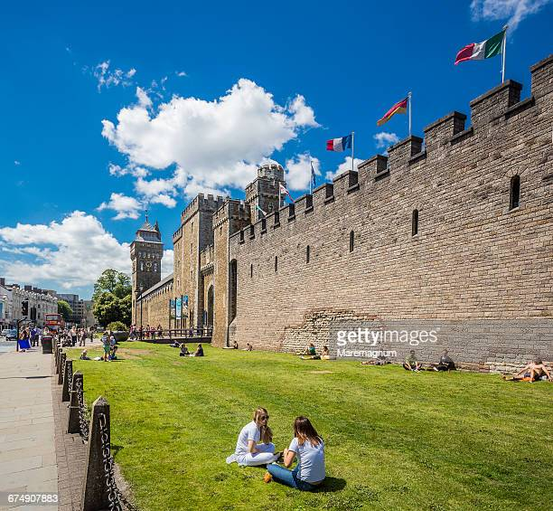 Cardiff City Centre, view of Cardiff Castle