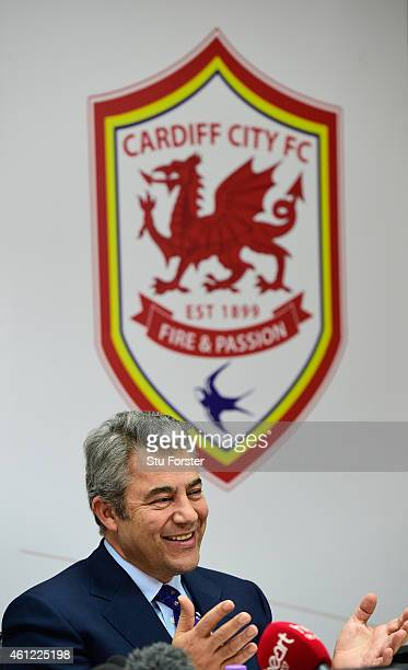Cardiff City chairman Mehmet Dalman announces at a press conference that the club would revert to their original blue home kit, starting from...