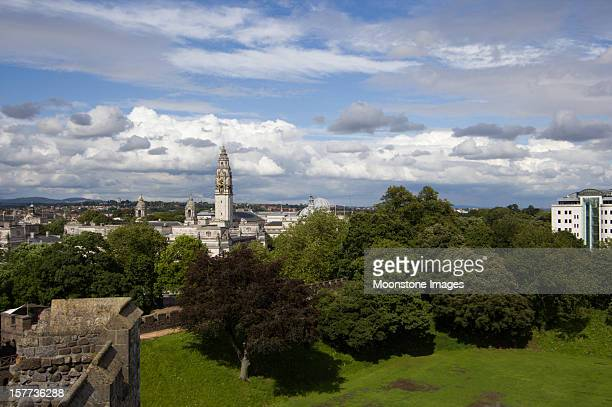 cardiff city hall in wales, uk - cardiff wales stock pictures, royalty-free photos & images