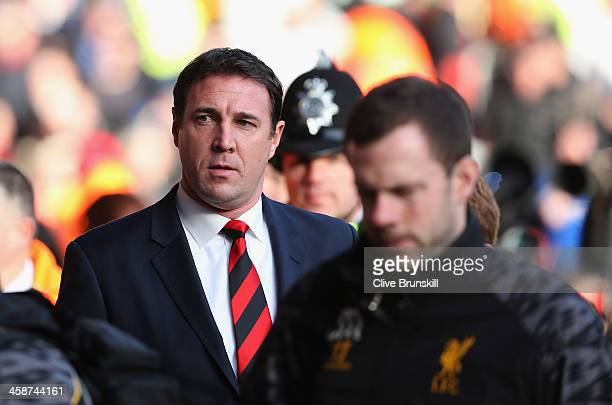 Cardiff City manager Malky Mackay during the Barclays Premier League match between Liverpool and Cardiff City at Anfield at Anfield on December 21...
