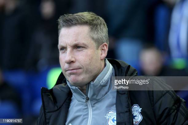 Cardiff City manager Neil Harris during the Sky Bet Championship match between Sheffield Wednesday and Cardiff City at Hillsborough Sheffield on...