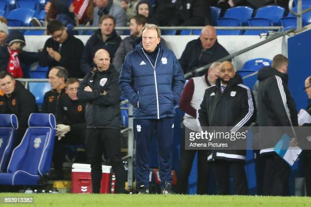 Cardiff City manager Neil Warnock during the Sky Bet Championship match between Cardiff City and Hull City at the Cardiff City Stadium on December 16...